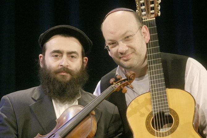 Sorgten für einen gelungenen Konzertabend beim FÖRDERVEREIN LIBERALE SYNAGOGE: Daniel Kempin (re) und Dimitry Reznik (li)