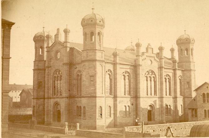 Liberale Synagoge Darmstadt, um 1900 / Foto: Stadtarchiv Darmstadt