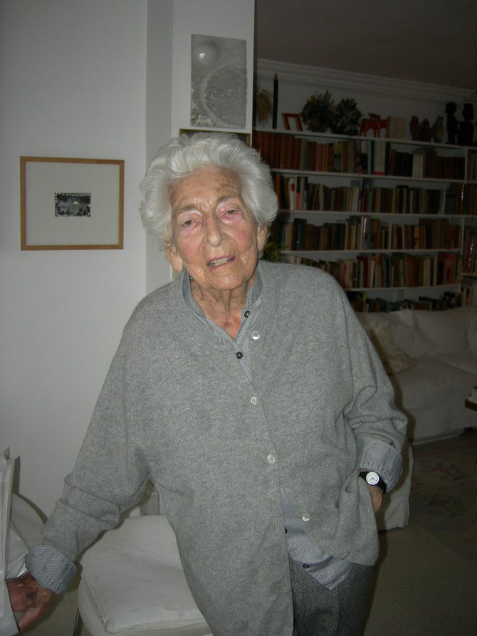 Elsbeth Juda (02.05.1911 in Darmstadt geboren - gestorben am 5.Juli 2014 in London) Foto: Martin Frenzel (FLS)