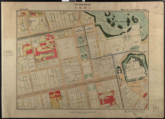 Historischer Stadtplan von 1904 / Foto: Stadtarchiv