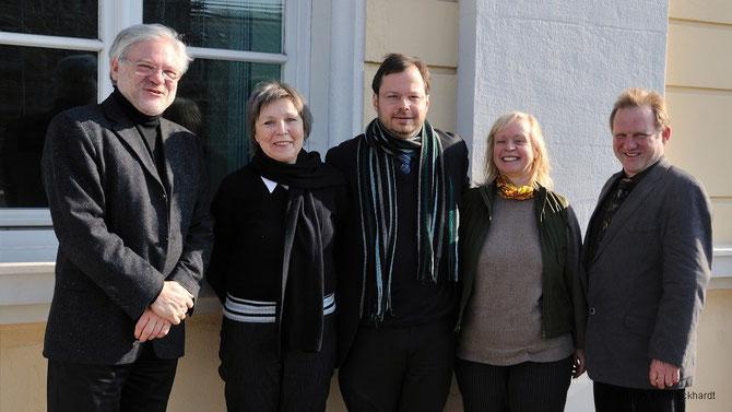 Die Fantastischen Fünf bei der Gründungs-Pressekonferenz des FLS: KLaus Feuchtinger, Martin Frenzel, Lilo Kiel, Ellen Eckhart, Martin Remmele / Foto: Marc Mandel