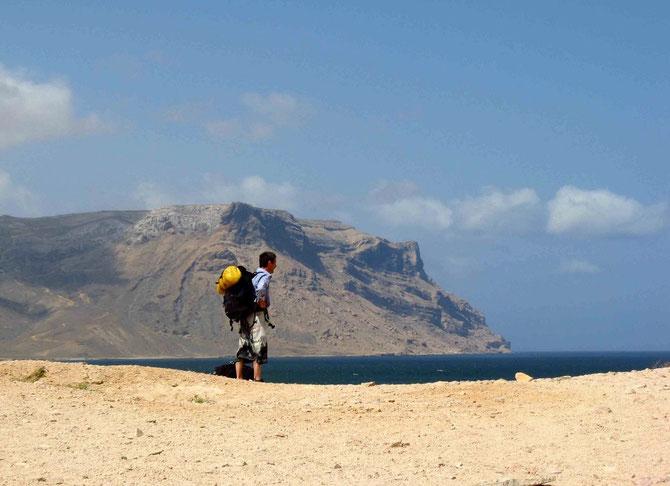 Zu Fuss wollen wir die Insel erkunden