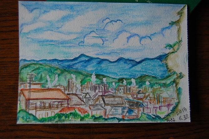 美紀子作 窓からの風景