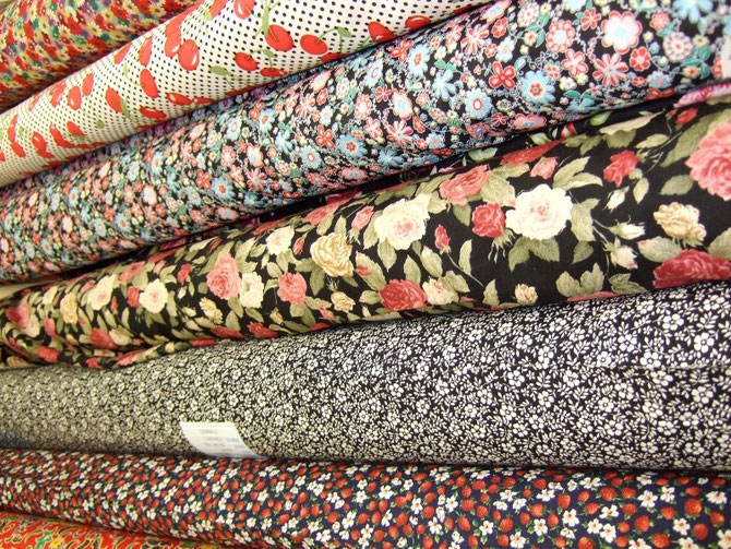 Silks, Wool, Cottons and Satin at Ealing Fabrics in West London