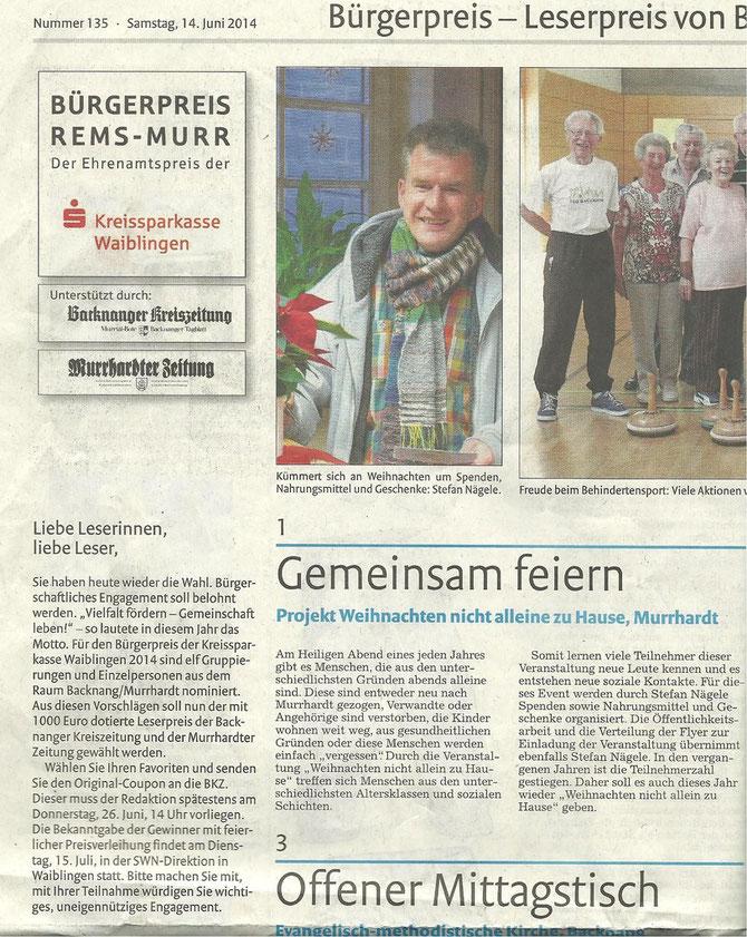Pressebericht Bürgerpreis