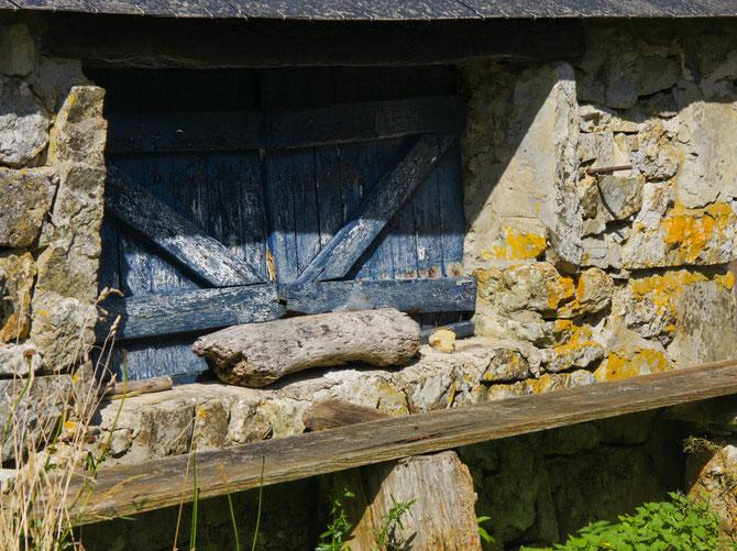 Geschlossenes Fenster, Crozon, Bretagne, 10.09.2013