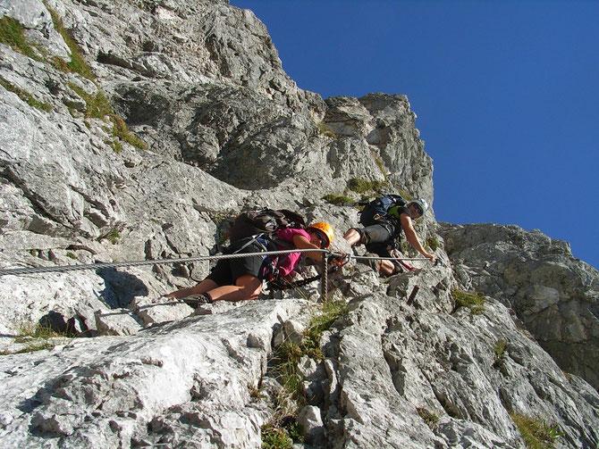 Im Anna-Klettersteig, benannt nach der Geliebten von Erzherzog Johann, 07.09.2012 um 12:39