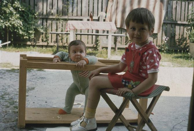 Julia und kleine Raina in Jasenak ehemaliges Jugoslawien