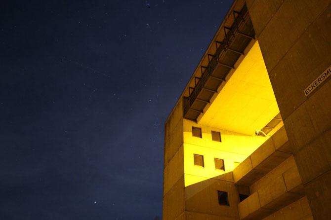 Schleuse Eckersmühlen mit Sternenhimmel, am 02.11.2014 um 20:02 Uhr