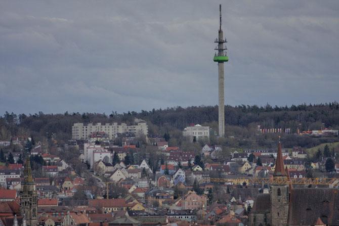 Blick über Ansbach vom Weinberg aus, 16.02.2014, 16:47 Uhr