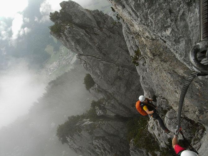 Klettersteig unterhalb des Triassicparks auf der Steinplatte, leichter Steig zur Eingewöhnung, 06.09.2012, 14:23 Uhr