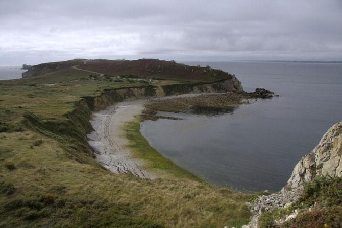 Küstenstreifen westlich von Camaret sur Mer auf Crozon, Bretagne 13.09.2013