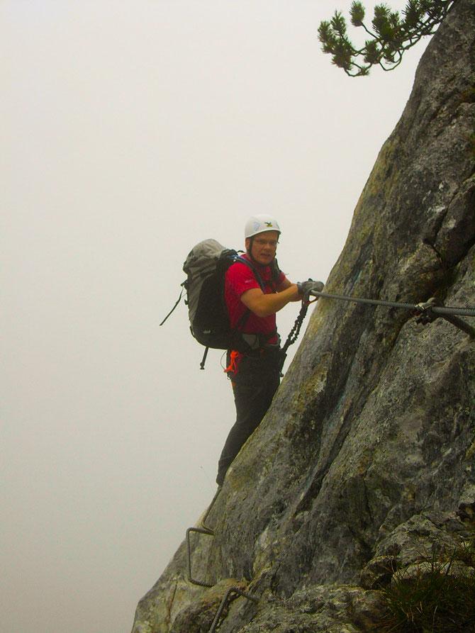 Klettersteig unterhalb des Triassicparks auf der Steinplatte, leichter Steig zur Eingewöhnung, 06.09.2012, 14:14 Uhr