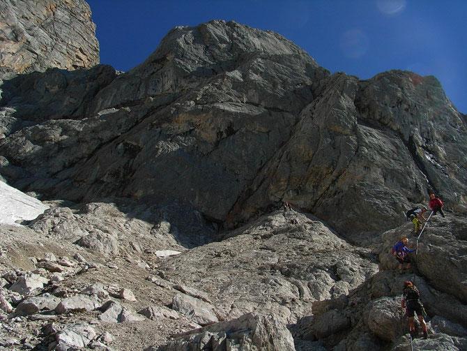 """Zustieg zum Johann Klettersteig, Diff. """"D/E"""", 700 hm 4 bis 5 Stunden"""