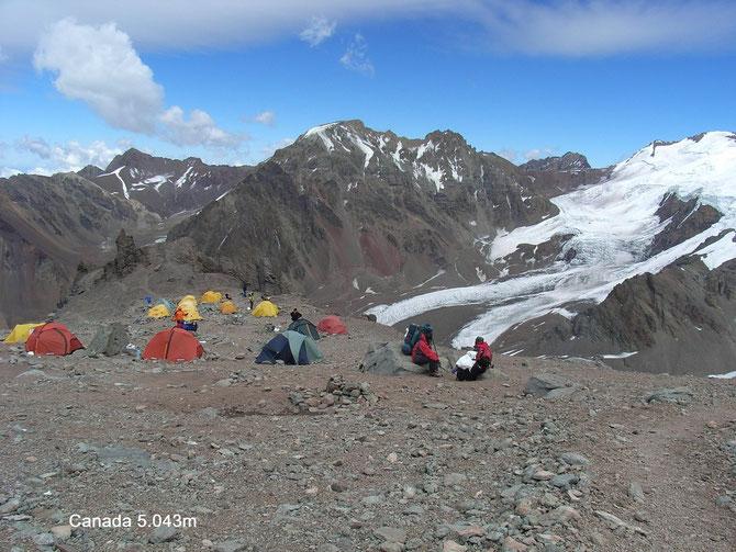 Auf dem Weg zu Nido de Condores kommt man auch im Lager Canada vorbei, 10.01.2008