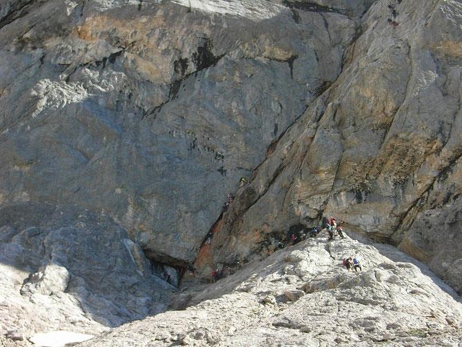 """Zustieg zum Johann Klettersteig, Diff. """"D/E"""", 700 hm 4 bis 5 Stunden, Einstieg = Schlüsselstelle, 08.09.2012, 09:57"""