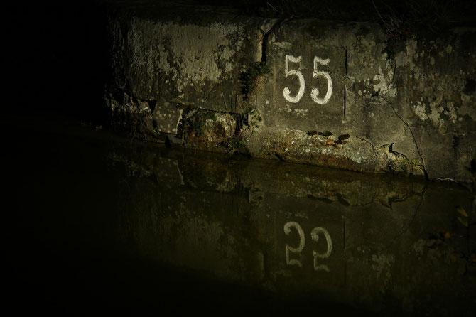 Schleuse 55 am alten Kanal bei Wendelstein am 08.11.2014 um 19:04 Uhr