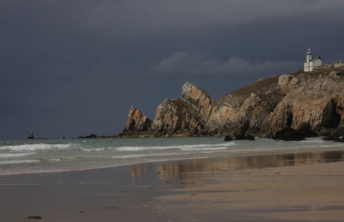 Atlantikküste bei Camaret sur Mer, Crozon, Bretagne, 06.09.2013, 12:46 Uhr