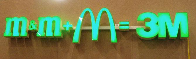 m&M+MacDonald=3M