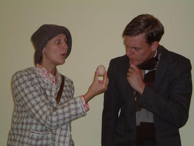 Frau Maier (Ulrike Leuer) und (Peter Eberst)