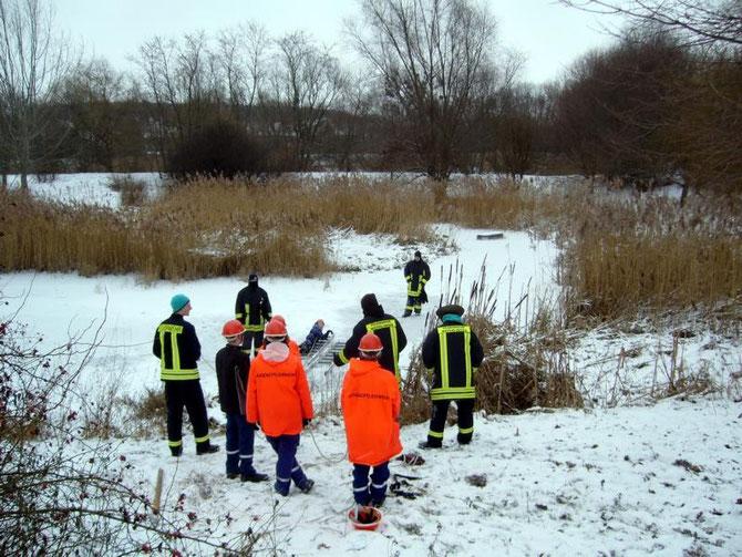 Übung der Freiwilligen Feuerwehr Weferlingen