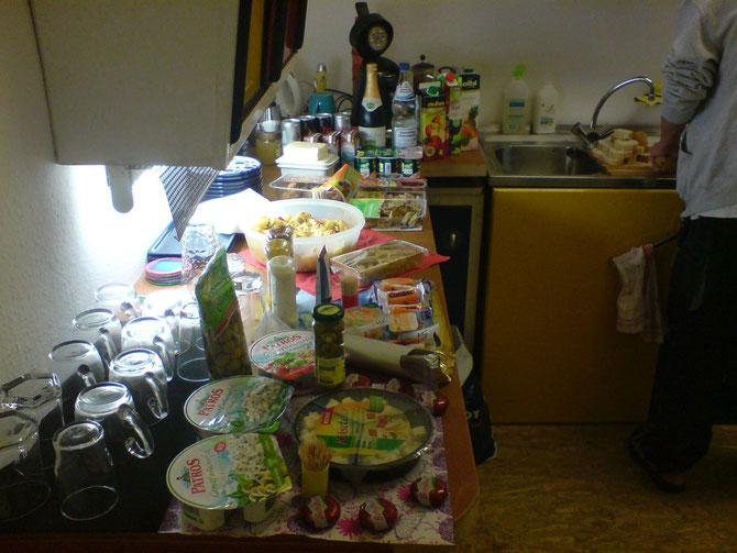 Geburtstagsbuffet lecker