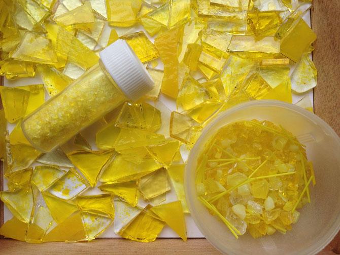 Gelb Fusingglas Farbe für Schale zur Konfirmation, Kommunion, Firmung