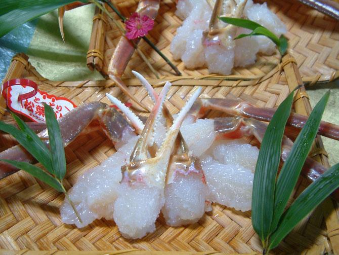 松葉蟹一例