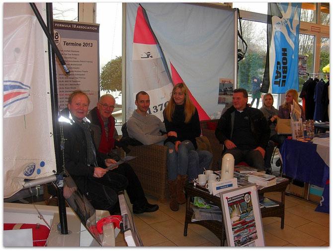 Seglertreff am Messestand auf der Freizeitmesse Bad Zwischenahn 24.02.2013