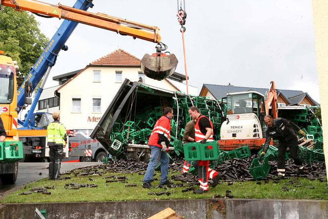 LKW-Unfall Hochstadt am Main (15) - (Foto: Stefan Johannes)