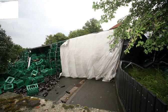 LKW-Unfall Hochstadt am Main (9) - (Foto: Stefan Johannes)