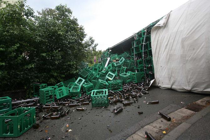 LKW-Unfall Hochstadt am Main (12) - (Foto: Stefan Johannes)