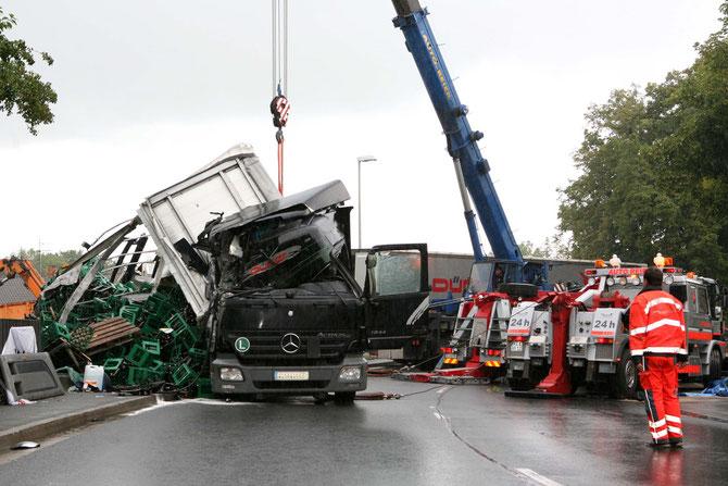 LKW-Unfall Hochstadt am Main (16) - (Foto: Stefan Johannes)