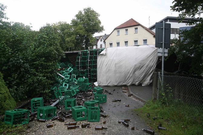 LKW-Unfall Hochstadt am Main (7) - (Foto: Stefan Johannes)