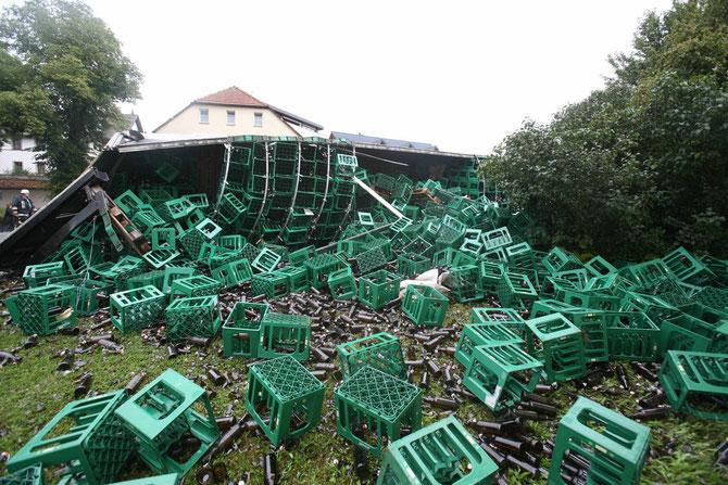 LKW-Unfall Hochstadt am Main (6) - (Foto: Stefan Johannes)