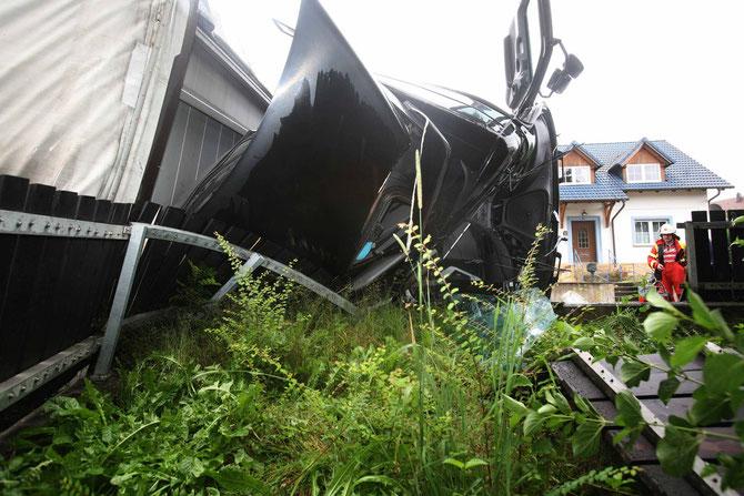 LKW-Unfall Hochstadt am Main (10) - (Foto: Stefan Johannes)