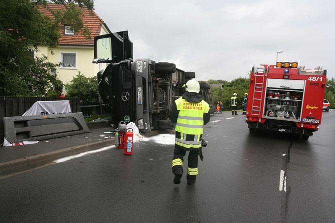 LKW-Unfall Hochstadt am Main (5) - (Foto: Stefan Johannes)