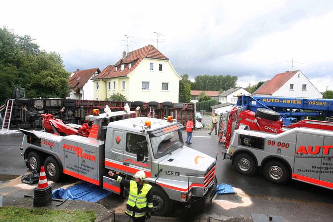 LKW-Unfall Hochstadt am Main (14) - (Foto: Stefan Johannes)