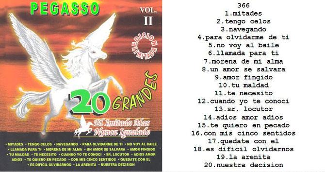 Grupo Pegasso – 20 Grandes Exitos Vol. 2