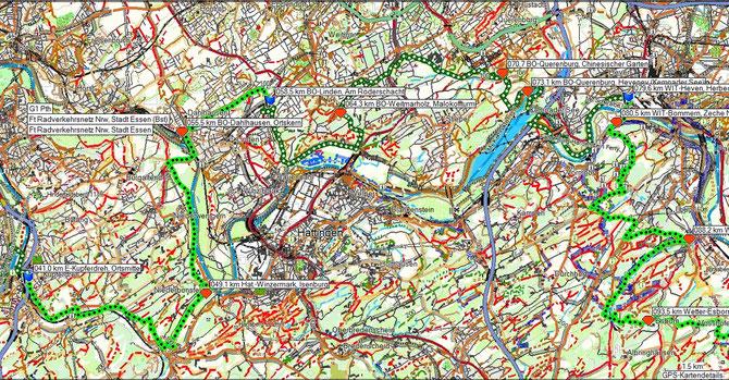 Etappen 3 - 4 E-Kupferdreh - BO-Linden - WIT-Heven