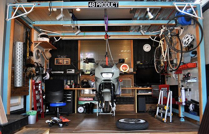 ハウスインナーとオートバイ
