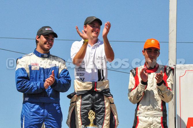 En el Podio: Tomas Sniechowski, Martin Badaracco y Juan Pablo Pastori (izq. a dcha)
