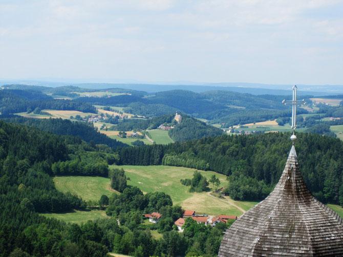 Blick vom Bergfried der Burg Falkenstein