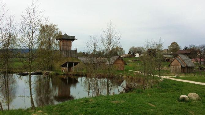 Geschichtspark Bärnau, frühmittelalterliches Dorf um die Turmhügelburg