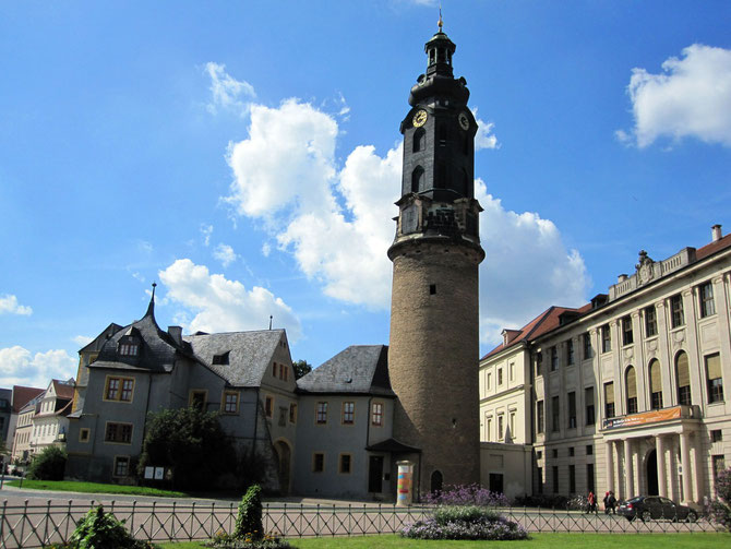 Residenzschloss Weimar, Schlossturm und Bastille