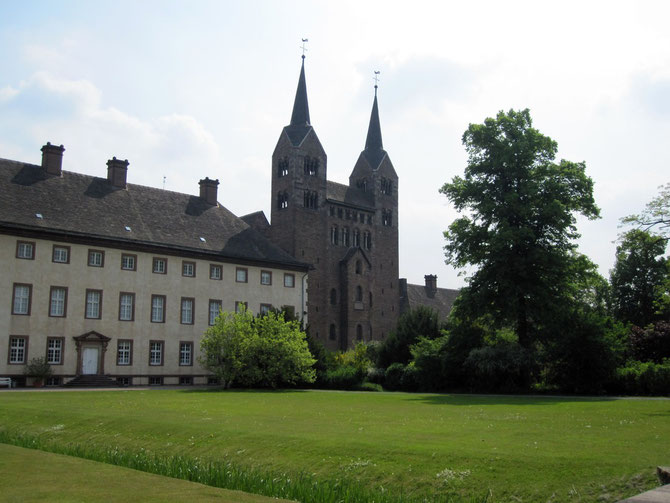 Schloss Corvey und Westwerk der Abteikirche, Höxter