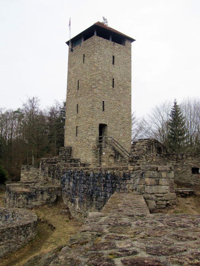 Burg Altnußberg, Bergfried und Obere Burg