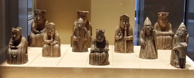 Lewis Chessmen im National Museum of Scotland