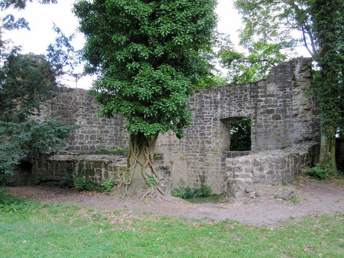 Burg Tecklenburg, Mauern der Kapelle
