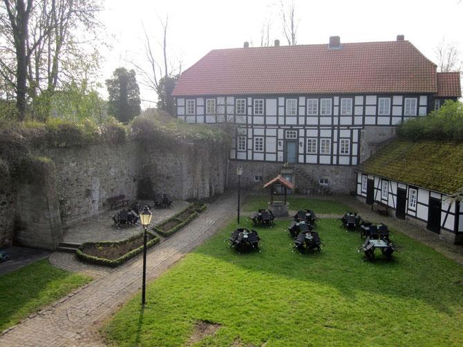 Burg Coppenbrügge, Burghof
